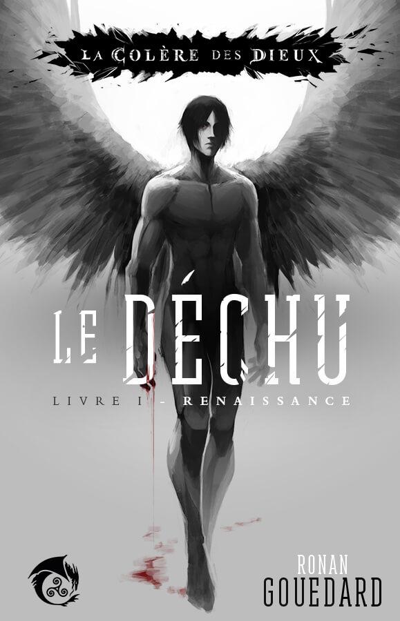 """Couverture du premier livre de la saga """"Le Déchu"""" de l'univers littéraire """"La Colère des Dieux"""". Auteur : Ronan GOUEDARD"""